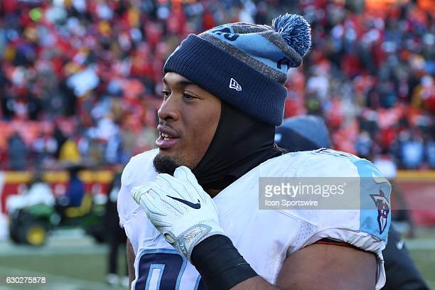 Tennessee Titans defensive end DaQuan Jones after an NFL game between two divisionleading teams the Tennessee Titans and Kansas City Chiefs on...