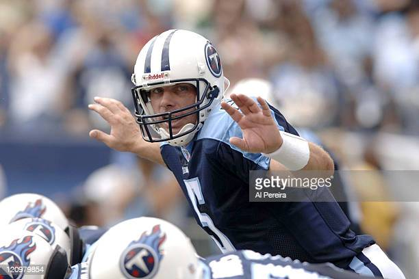 Tennessee TItans QB Kerry Collins in action during the Jets' 2316 win over the Titans at LP Field Nashville Tennessee Spetember 10 2006