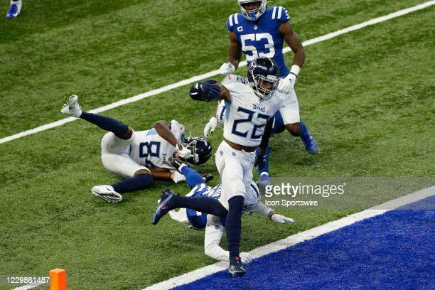Tennessee Titans Running Back Derrick Henry goes in for his first touchdown during a NFL game between the Tennessee Titans and the Indianapolis Colts...