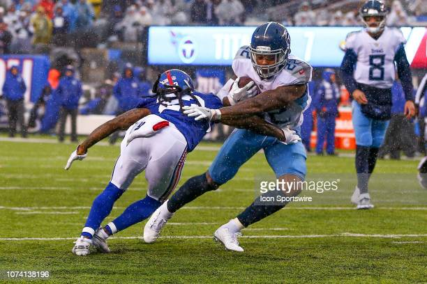 Tennessee Titans running back Derrick Henry scores his second touchdown of the game during the third quarter of the National Football League game...
