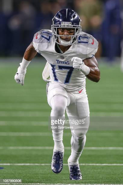 Tennessee Titans wide receiver Cameron Batson runs a route during the game between the Tennessee Titans and Dallas Cowboys on November 5 2018 at ATT...