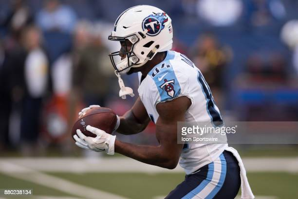 Tennessee Titans wide receiver Corey Davis warms up before the NFL game between the Tennessee Titans and Indianapolis Colts on November 26 at Lucas...