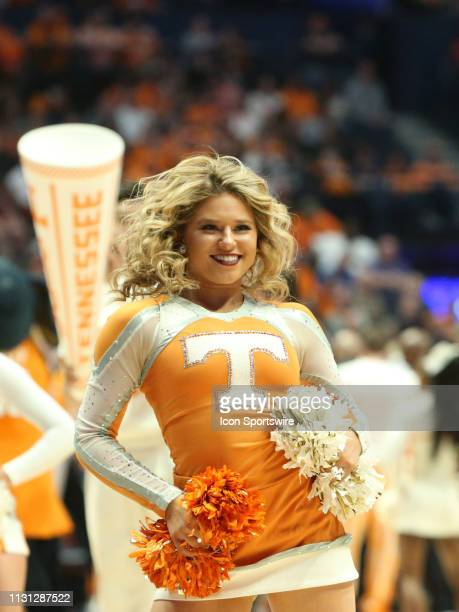 Tennessee Volunteers cheerleader during the Southeastern Conference Tournament championship game between the Tennessee Volunteers and Auburn Tigers...