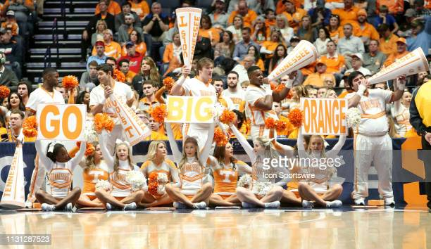 Tennessee Volunteers cheerleaders during the Southeastern Conference Tournament championship game between the Tennessee Volunteers and Auburn Tigers...