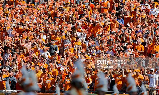 Tennessee Volunteers fans during the Outback Bowl at Raymond James Stadium on January 1 2016 in Tampa Florida