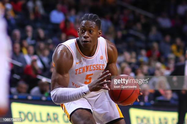 Tennessee Volunteers guard Admiral Schofield during the NIT Season Tip Off College Basketball Game between the Louisville Cardinals and the Tennessee...