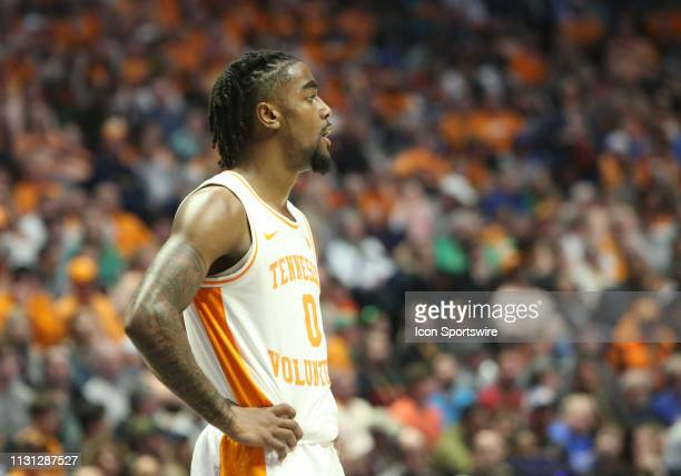 Tennessee Volunteers guard Jordan Bone watches the final seconds tick off the clock during the Southeastern Conference Tournament championship game...
