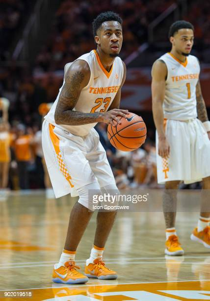 Tennessee Volunteers guard Jordan Bowden shooting a free throw during a game between the Kentucky Wildcats and Tennessee Volunteers on January 6 at...