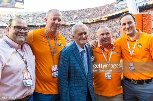 Tennessee Volunteers long time playbyplay announcer John Ward was honored at a game between the Vanderbilt Commodores and Tennessee Volunteers on...