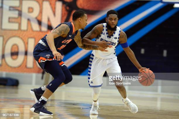 TennesseeMartin Skyhawks Guard Lorenzen Wright Jr guards Eastern Illinois Panthers Guard Montell Goodwin during the Ohio Valley Conference college...