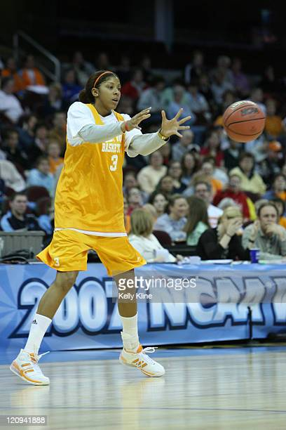 Tennessee's Candace Parker pratices in preparation for the NCAA Women's Final Four at the Quicken Loans Arena Cleveland Ohio March 31 2007
