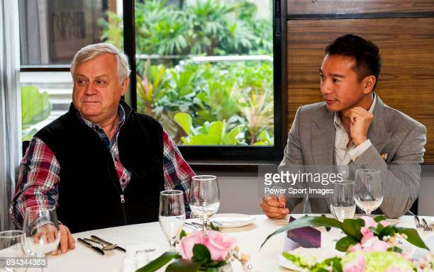 Tenniel Chu and Alan Palmer attends a VIP Lunch during the Hyundai China Ladies Open 2014 on December 11 in Shenzhen China