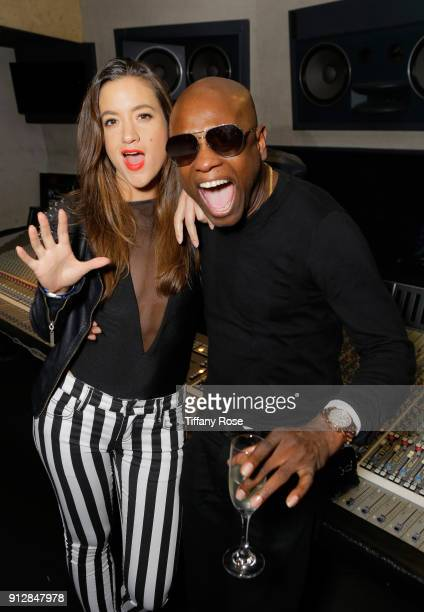 "Tennille Amor and Jerry ""Wonda"" Duplessis at CIROC Studios Launch Event hosted by DJ Khaled at the iconic Record Plant Studios on January 31, 2018 in..."