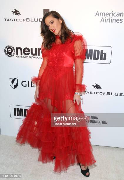 Tennille Amor attends 27th Annual Elton John AIDS Foundation Academy Awards Viewing Party Celebrating EJAF And The 91st Academy Awards on February...