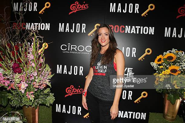 Tennille Amor attends DJ Khaled Album Release Party at Lavo on July 27, 2016 in New York City.