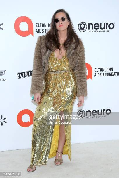 Tennille Amor attends the 28th Annual Elton John AIDS Foundation Academy Awards Viewing Party sponsored by IMDb, Neuro Drinks and Walmart on February...