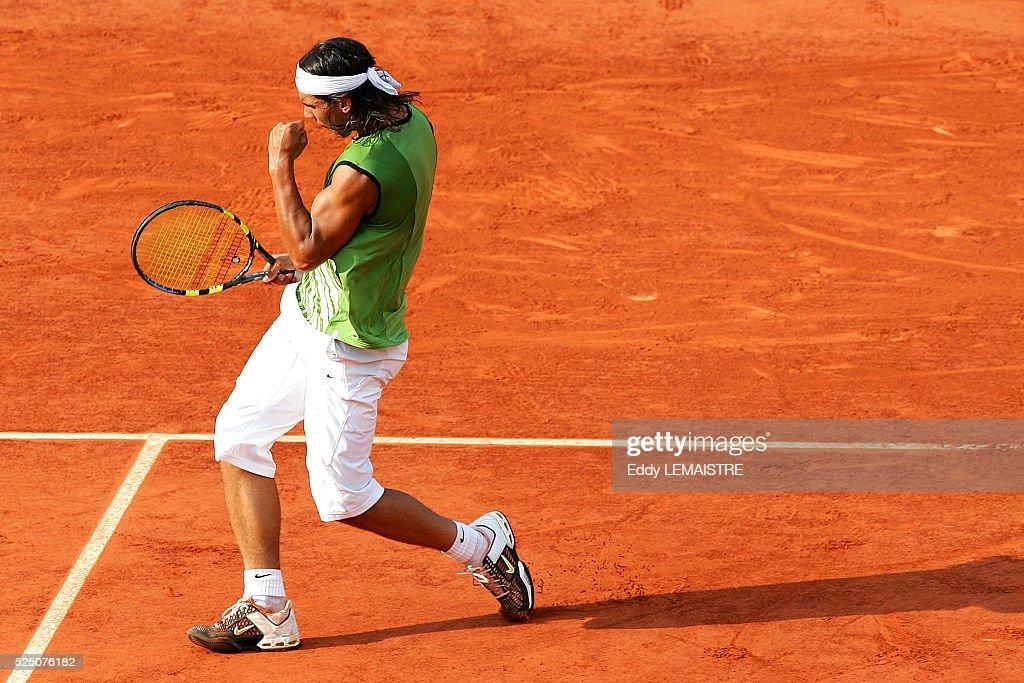 Tennis 2005 - Roland Garros French Open. (4) Rafael Nadal (Spa) bt (1) Roger Federer (Swi) 6-3 4-6 6-4 6-3