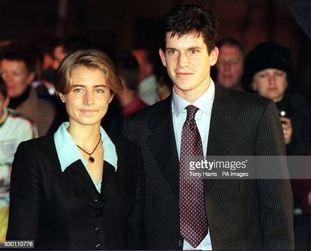 Tennis ace Tim Henman and his girlfriend Lucy Heald arriving at London's QEII Conference Centre for the BBC Sports Personality of the Year 1998...