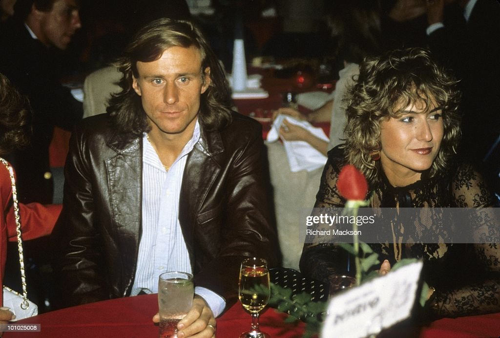 Sweden Bjorn Borg casual, sitting with wife Mariana during dinner at Caesars Palace. Las Vegas, NV 4/22/1982