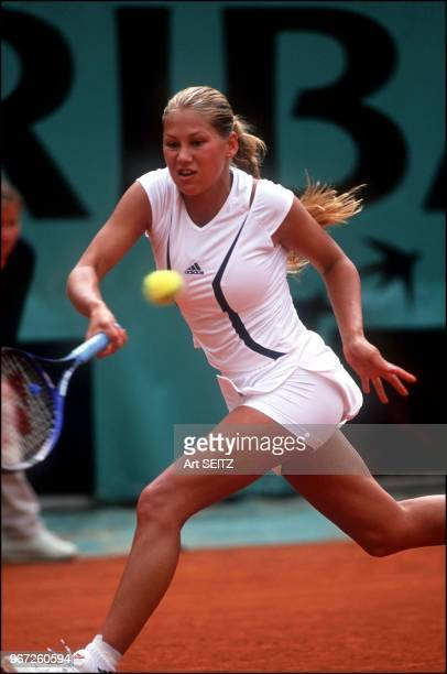 Anna Kournikova during the female tournament of Roland Garros