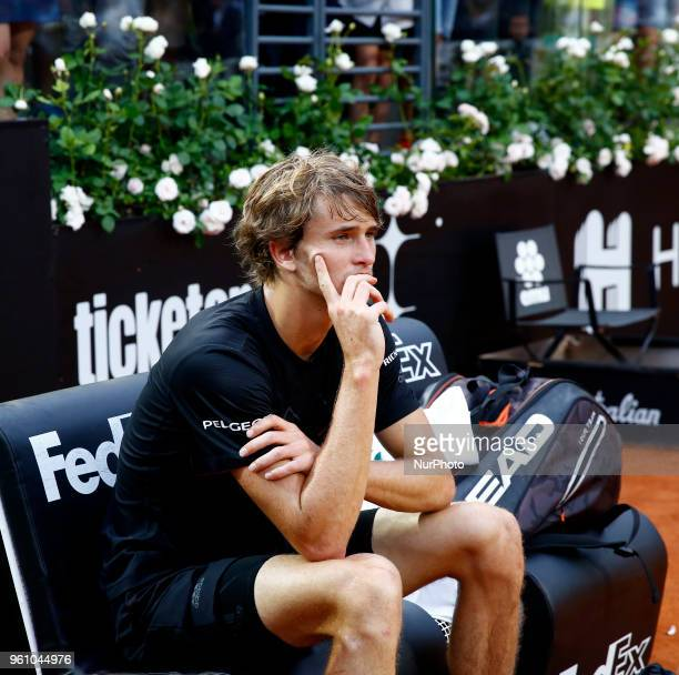 Tennis ATP Internazionali d'Italia BNL Final Alexander Zverev before the award ceremony at Foro Italico in Rome Italy on May 20 2018