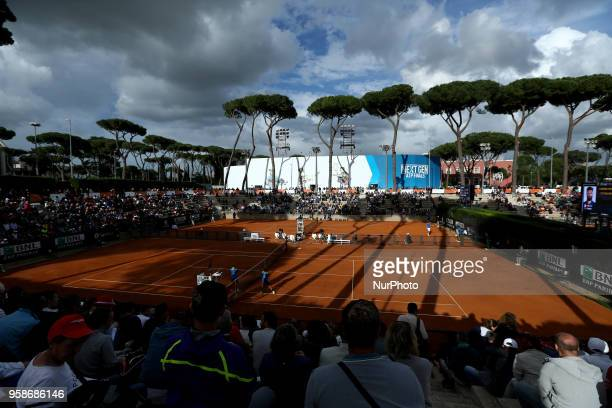 Tennis ATP Internazionali d'Italia BNL First Round A view of the courts of Foro Italico in Rome Italy on May 14 2018
