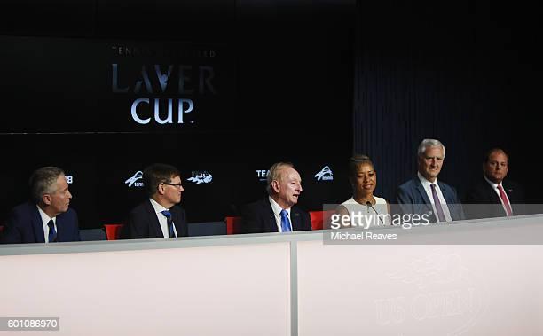 Tennis Australia CEO Craig Tiley Tennis Australia President Steve Healy Rod Laver USTA President Katrina Adams Jorge Paulo Lemann and TEAM8 CEO Tony...