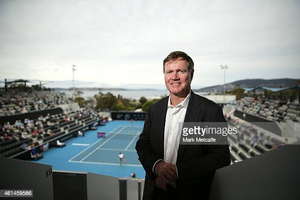 Tennis Australia president Steve Healy poses during day three of the Hobart International at Domain Tennis Centre on January 13 2015 in Hobart...