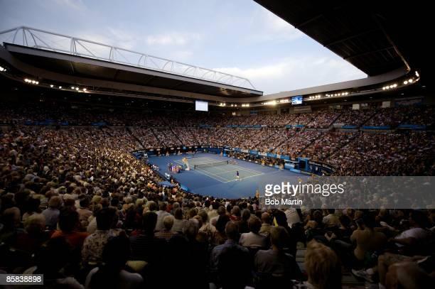 Australian Open Overall view of Rod Laver Arena during Spain Rafael Nadal vs Switzerland Roger Federer of Men's Finals match at Melbourne Park...