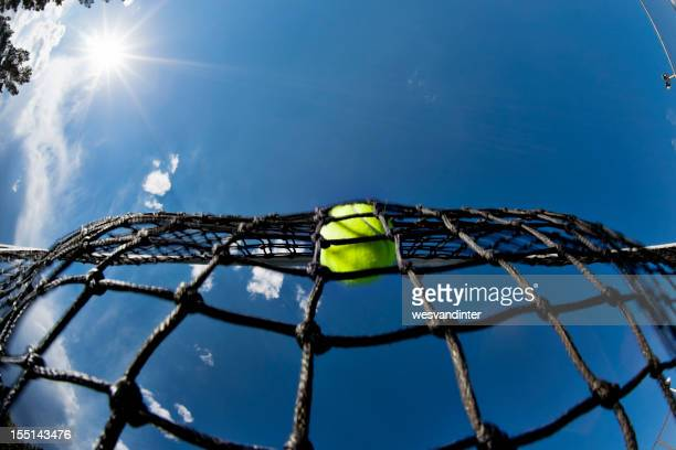 Tennis Ball in the Net