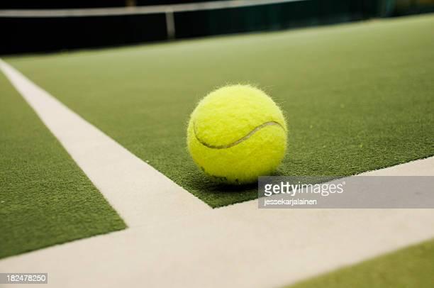 Tennis ball inside