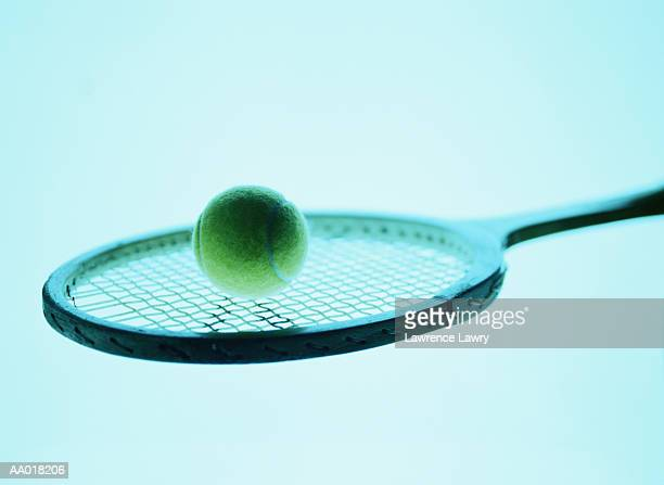 Tennis Ball on a Tennis Racket