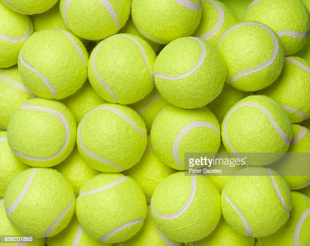 tennis balls background - tennis ball stock pictures, royalty-free photos & images