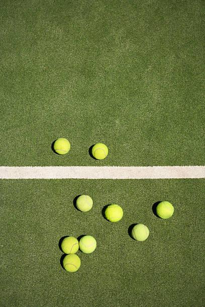 Tennis Balls On Court Wall Art