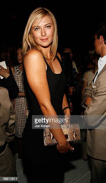 Tennis champion Maria Sharapova attends Michael Kors spring 2008 fashion show during Mercedes-Benz Fashion Week Spring 2008 on Sep 9 2007 in New York...