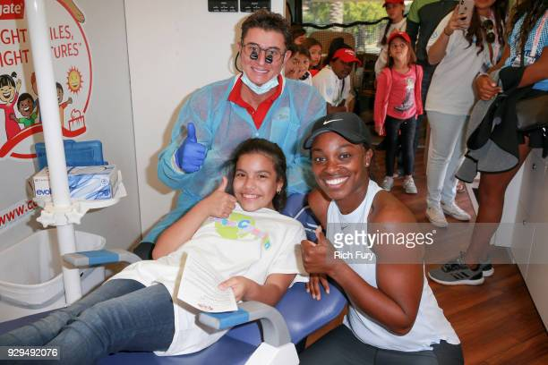 Tennis champion Sloane Stephens and her Foundation partner with Colgate's Bright Smiles Bright Futures educational program to provide tennis lessons...