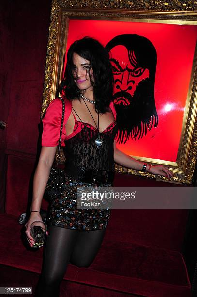 Tennis Champion/singer Charlene Vanneste attends the Frederic Beigbeder Birthday Party at Raspoutine Club on October 1 2010 in Paris France