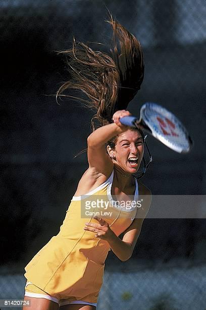 Tennis Closeup of Monique Viele in action during practice Pompano Beach FL 3/17/1999