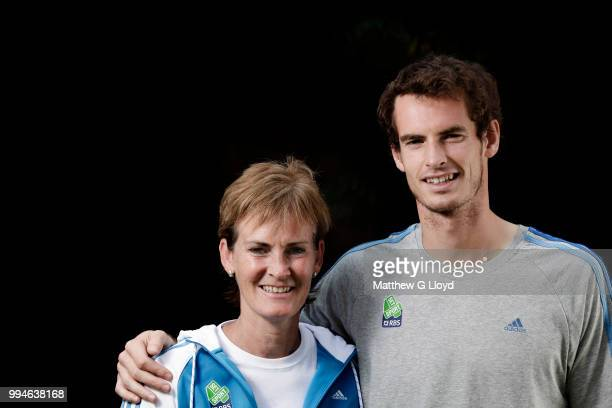 Tennis coach Judy Murray is photographed with her son and tennis player Andy Murray for the Times on June 14 2011 in London England