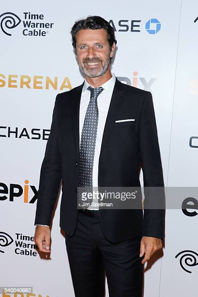 Tennis coach Patrick Mouratoglou attends the premiere of EPIX original documentary Serena at SVA Theatre on June 13 2016 in New York City