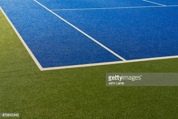tennis court colour abstract - court stock pictures, royalty-free photos & images