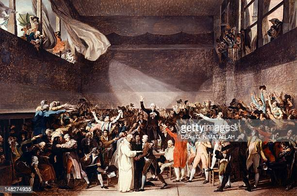 Tennis Court Oath in Versailles on June 20 17841794 by JacquesLouis David oil on canvas 65x8870 cm Paris Hôtel Carnavalet