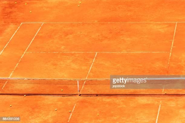 tennis court orange color