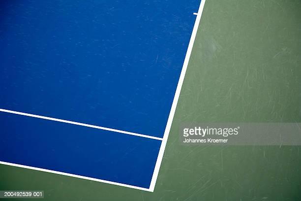Tennis court, overhead view
