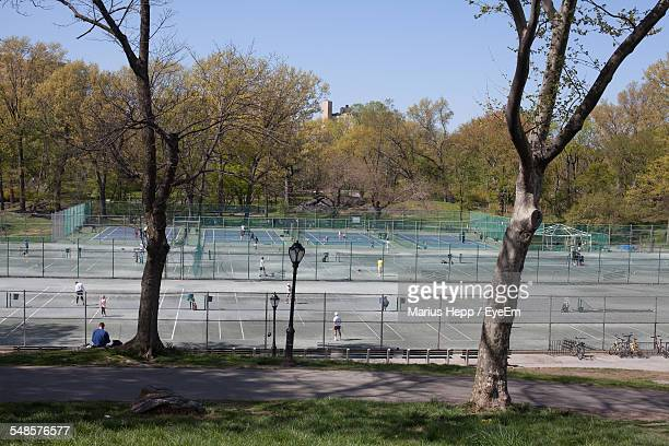 Tennis Courts In Park
