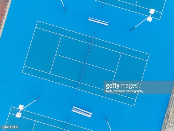 tennis courts - hardcourt stock photos and pictures