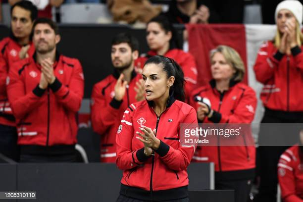 Tennis Fed Cup Canada's Captain Heidi El Tabakh cheers on her team during the Fed Cup match against Switzerland February 7th 2020