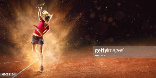 Tennis: Vrouwelijke sportman in actie