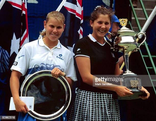 Tennis Finale Australian Open Melbourne 27196 Anke HUBER Monica SELES