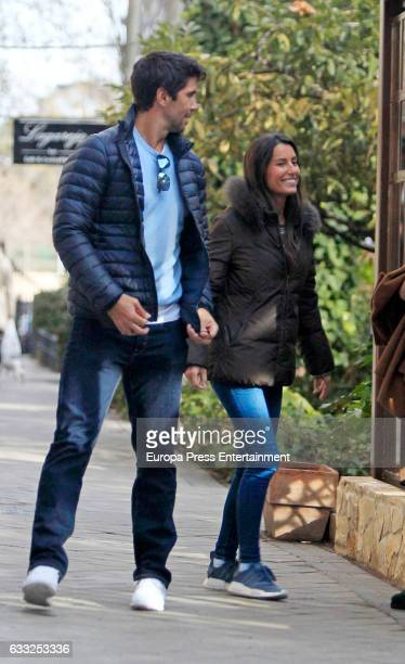 Tennis football player Fernando Verdasco and Ana Boyer are seen on January 31 2017 in Madrid Spain
